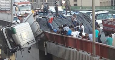 """صورة تكدس مروري في """"القاهرة"""" بسبب حريق هائل"""