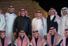 """صورة """"الأمير منصور بن سعود"""" يحتفل بزفاف ابنته على رئيس نادي النصر السابق"""