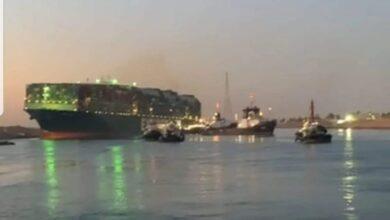 صورة عاجل بالفيديو.. الفريق أسامة ربيع يكشف عن نجاح تعويم السفينة الجانحة