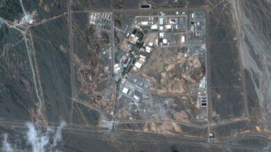 صورة مغرد يؤكد وجود منشأة إيرانية في عمق الصحراء العراقية قرب الحدود الأردنية السعودية