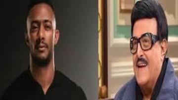 """صورة فيديو.. """"محمد رمضان"""" يثير الجدل بعد وفاة الفنان """"سمير غانم"""""""