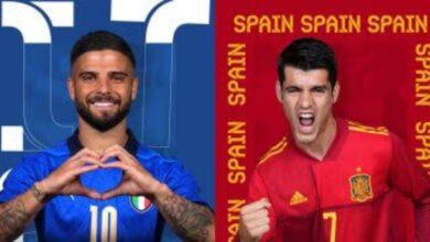 """صورة مواجهة نارية بين إيطاليا وإسبانيا في نصف نهائي """"يورو 2020"""" الليلة"""
