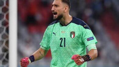"""صورة اختيار """"دوناروما"""" حارس إيطاليا أفضل لاعب في """"يورو 2020"""""""