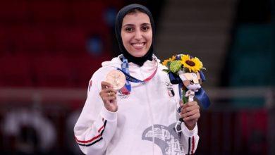 """صورة فيديو.. """"جيانا فاروق"""" تكتب التاريخ وتحرز أول ميدالية للعرب بالأولمبياد"""