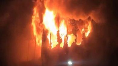 صورة فيديو.. حريق هائل في مبنى لكبار السن في «تايوان»